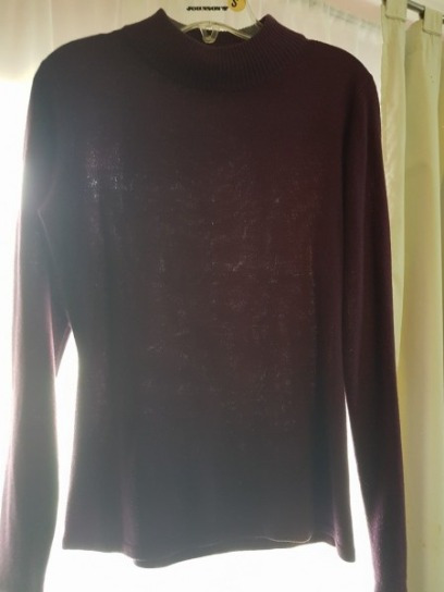 Sweater Azul Y Lila