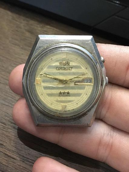 Relógio Orient Automatic Calendário Antigo De Pulso Funciona