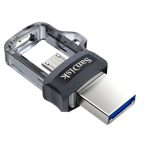 Pendrive 128gb Sandisk Celular E Pc Ultra Dual Drive Lacrado