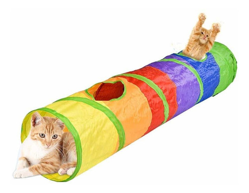 Pet Play Tunnels Cat Collapsible Tube Toys With One Po...