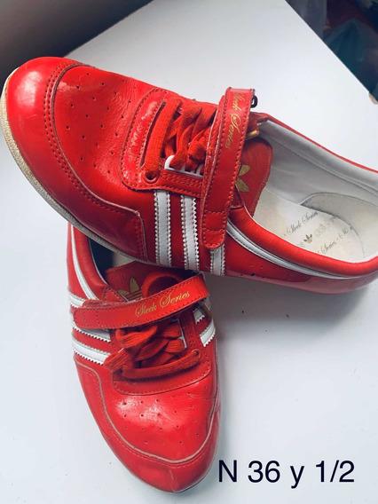 Zapatillas Mujer adidas Original Rojo Charol Retro Vintage