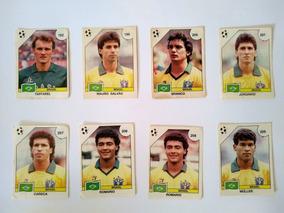 Lote Com 8 Figurinhas Novas Brasil Álbum Copa Do Mundo 1990