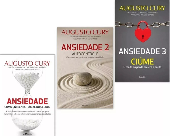 Coleção Ansiedade 1 2 3 Augusto Cury Promoção!