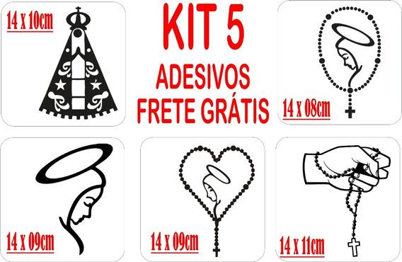 Kit 5 Adesivos Automotivo Nossa Senhora Frete Grátis