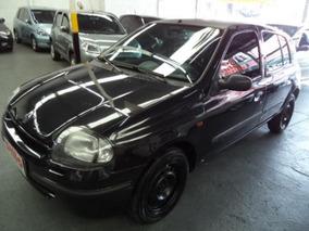 Clio Rn 1.0 Gasolina 8v 4p 2001 Preto Vidros E Trava Confira