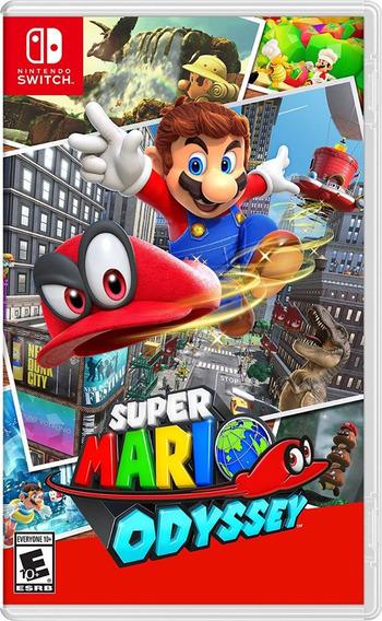 Super Mario Odyssey Nintendo Switch Mídia Física Lacrado