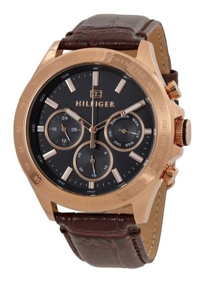 Reloj Tommy Hilfiger Hudson Taquímetro Piel Hombre 1791225