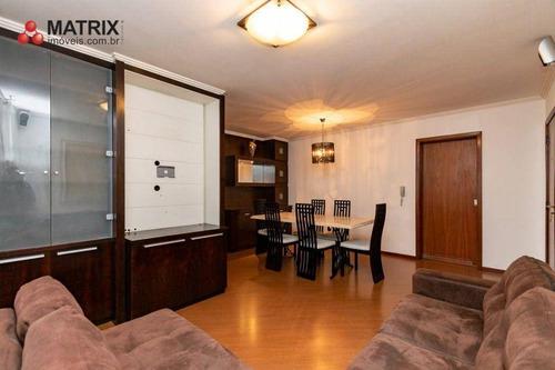 Apartamento Com 3 Dormitórios À Venda, 116 M² Por R$ 650.000,00 - Alto Da Glória - Curitiba/pr - Ap1805