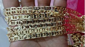Corrente 50 Cm Folheada A Ouro.