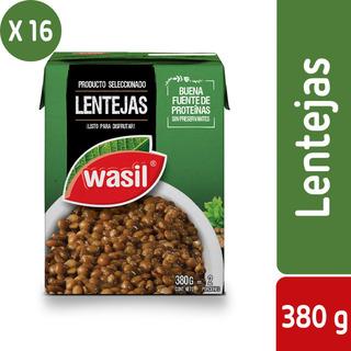 Pack 16 - Wasil Caja De Lentejas Listas 380 G