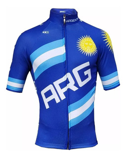 Remera Ciclismo Argentina Dry Tech Jersey Bicicleta