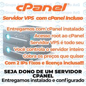 Servidor Vps Cpanel 4gb Ram 2vcpu 2 Ips 500gb Licença + Conf