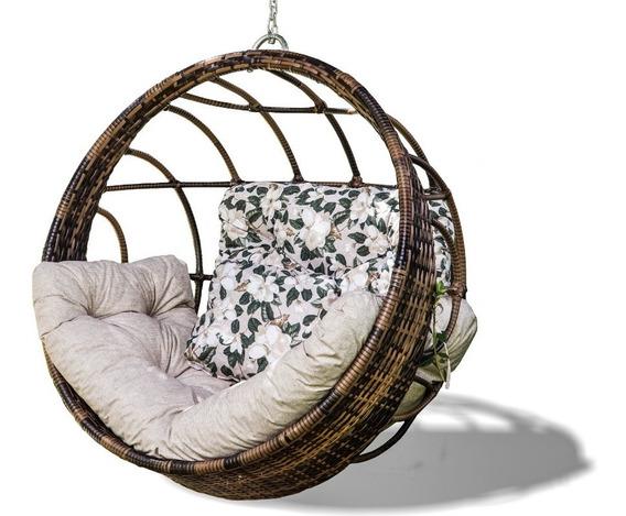 Cadeira Poltrona Balanço Fibra Sintética E Alumínio Teto