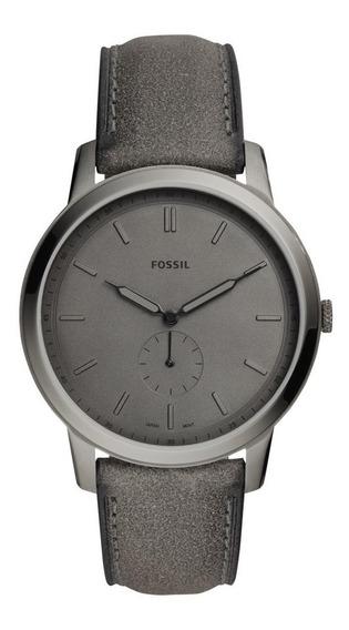 Relógio Masculino Fossil Minimalist Fs5445/0cn Couro Grafite