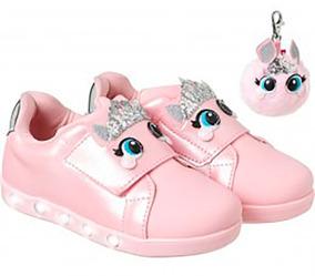 Tênis Infantil Pampili Sneaker Luz Princess Dot Rosa 22 À 29
