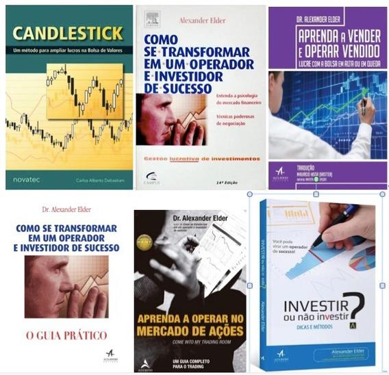 Combo 6 Livros Candlestick + Coleção Alexander Elder