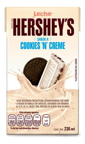 Imagen 1 de 2 de Leche Hershey's Sabor Cookies & Cream 236 Ml