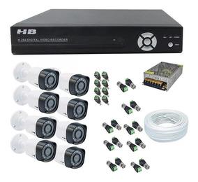 Kit Cftv 8 Câmeras Segurança Hd 1080p Dvr 8ch