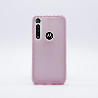 Funda Motorola G8 Plus Tpu Diseño Glitter Rosa