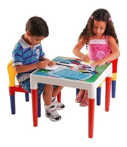 Mesinha Didática Infantil 2 Cadeiras Crianças Frete Grátis