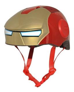 Casco Protector Iron Man Para Niños Bicicleta Skate Patines