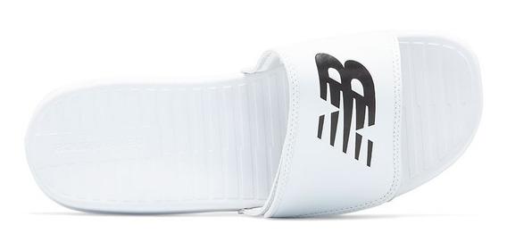 Ojotas New Balance Con Velcro Ajustable Blanco Original