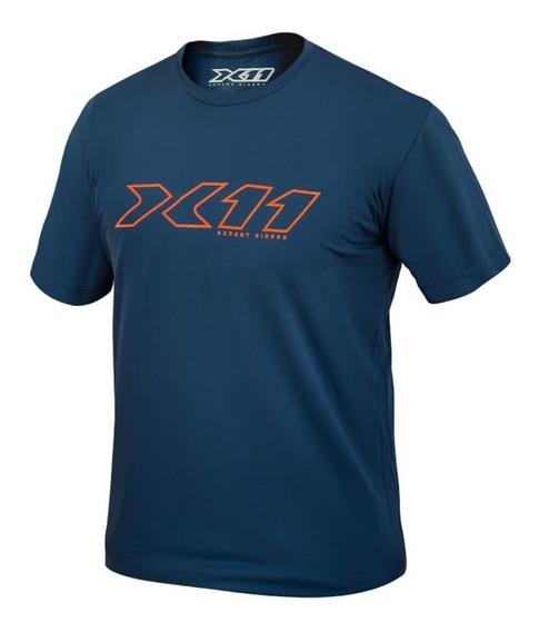 Camiseta X11 Underjacket Segunda Pele Dryfit Azul