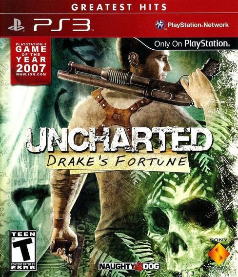 Uncharted: Drake´s Fortune - Ps3 - Semi Novo - Frete Gratis