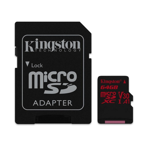 Cartão Kingston Micro Sdxc 64gb Uhs-i C10 U3 V30 100mb/s