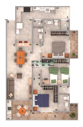Imagem 1 de 11 de Apartamento - Venda - Vila Caiçara - Praia Grande - Masot270