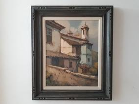 585- Walter S. Veiga. Ost 61x 71cm Com Moldura= Ouro Preto.