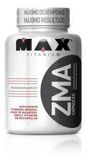 Zma Max Titanium - 90 Caps - Aumento De Testosterona - Promo