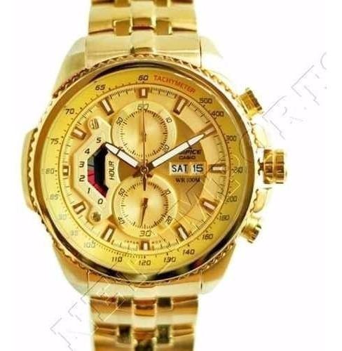 Relógio Hx033b Casio Edifice Ef539 Golden Classico