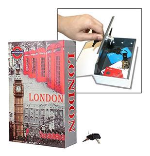 Caja Fuerte De Seguridad Simulada Libro Oculto Caja Cofre Con Llaves