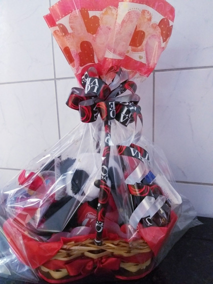 Cesta Chocolates Romântica /frete Grátis / Promoção