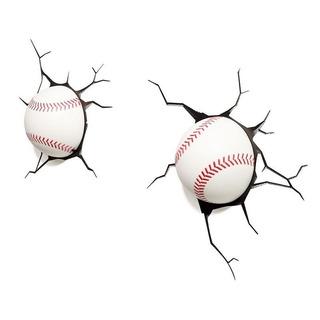 Luminária 3d Light Fx Bolas De Baseball (par)
