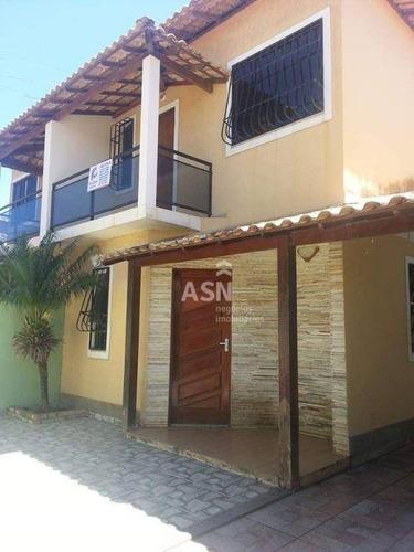 Casa Duplex Em Meio Lote Com 03 Quartos Em Rio Das Ostras/rj - Ca0620