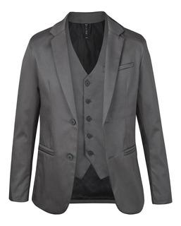 Sacos De Vestir Con Chaleco Satinados Entallados Import Usa