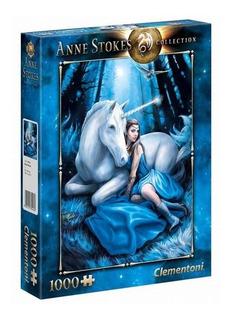 Puzzle Rompecabezas Blue Moon 1000 Pzas Unicornio Clementoni