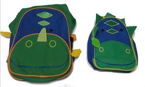 Kit Conjunto Mochila Infantil + Lancheira De Animais Zoo