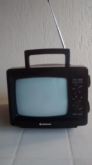 Tv Portátil P/b 5 C/ Radio Samsung Raridade