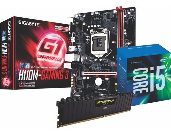 Kit Intel Core I5 7400 Gigabyte H110m Memória Vg 8gb 2666mhz