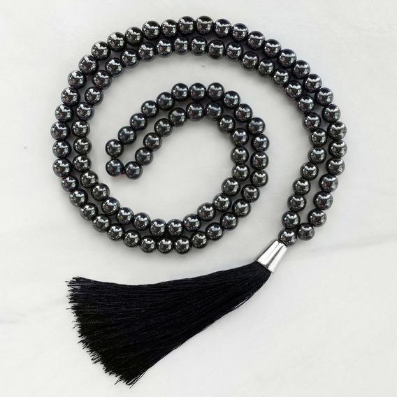 Japamala Hematita 108 Contas Terço Budista