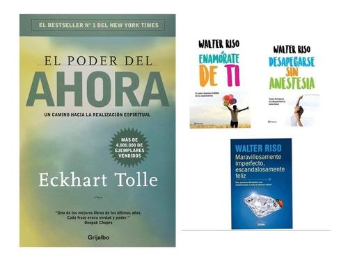 Imagen 1 de 1 de El Poder Del Ahora Eckhart Tolle + Paquete Walter Riso Pack
