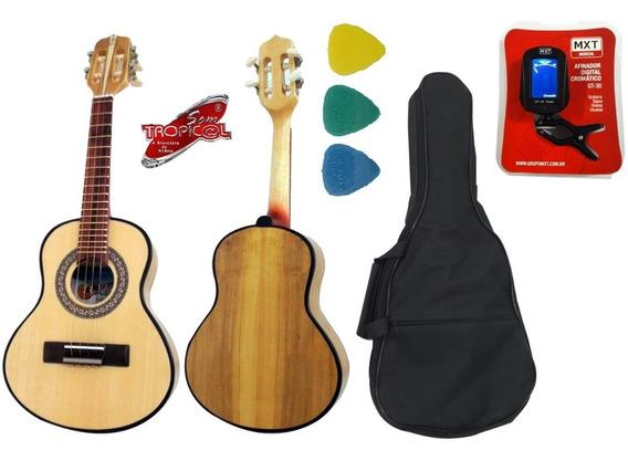 Cavaquinho Toks 10 Natural Acústico +kit Capa Afinador Palhe