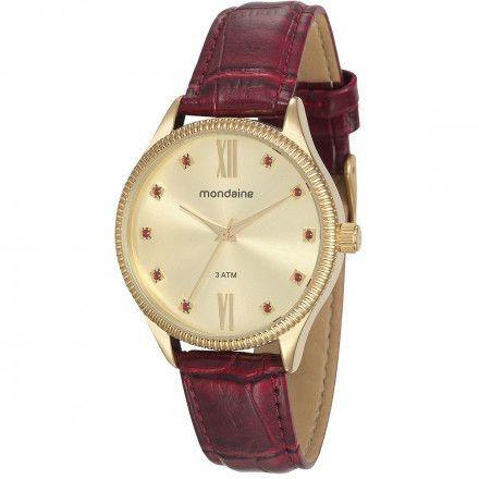 Relógio Dourado Mondaine Feminino 76680lpmvdh1 Original