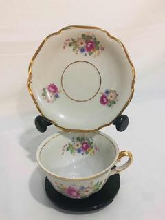 Brechó Charisma Porcelana Mauá Xícara De Chá Anos 60