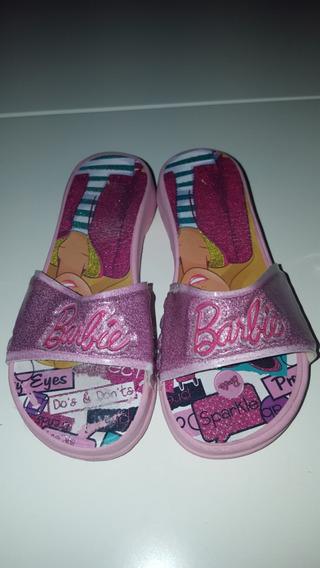 Bellas Ojotas Zuecos C/taco Barbie T.25-26 Unicas!!!!