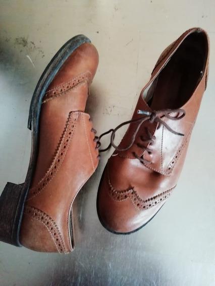 Zapatos Acordonados Cuero Oxford Talle 37