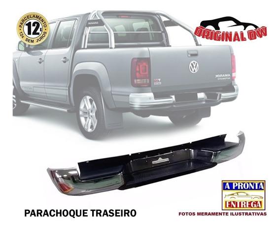 Parachoque Traseiro Amarok 2012 Cromado Original Com Furo